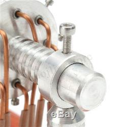 16 Cylinder Hot Air Stirling Engine Motor Model Education Toy Aircraf Propeller