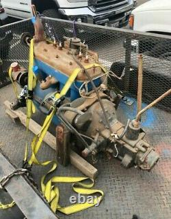 1929 Ford Model A 4 Cylinder Complete Engine Motor Block Trans A3679945