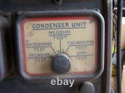 1940's 1950's SUN MOTOR TESTER CONSOLE MODEL D TUNE UP ENGINE ANALYZER
