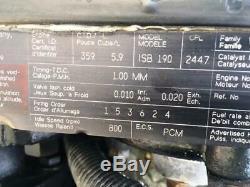 1998 Cummins ISB 24-Valve 5.9L Diesel Engine Turbocharged CM550 CPL 2447 Non-EGR