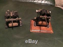 2 Antique Knapp Little Hustler Electric Motor Type Toy Model Hobby Engine