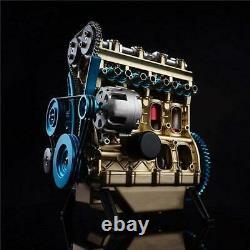 Adult DIY Assembly Engine Model Kit Micro V4 Engine Motor Mechanical Hobby Gift