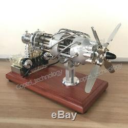 Amazing Cool Hot Air Stirling Engine Model Toy DIY 8-Cylinder Generator Motor