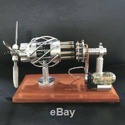 Amazing Cool Hot Air Stirling Engine Model Toy Mini Aircraf Propeller Aero Motor