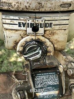 Antique 1950's Evinrude Sportsman Model 4425 Outboard Motor Vintage Engine Tank