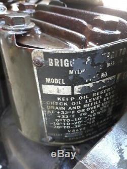 Antique Vtg Briggs & Stratton Engine Motor 1944 era Model I Generator untested