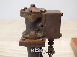 Antique c1902 Miniature Engineering Model Bronze Steam Engine Motor