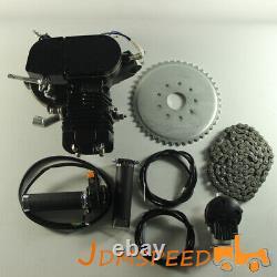 Black 2 Stroke Cycle Motor Kit 50cc Motorized Bike Petrol Gas Bicycle Engine