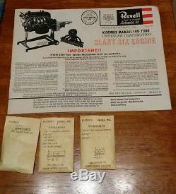Chrysler Corporation authentic 1/4 scale Slant Six Engine Model Motorized Revell