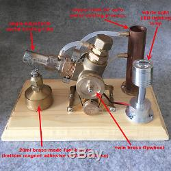 Creative Hot Air Stirling Engine Model Toy Water Cooling V-Engine Mini Motor Toy