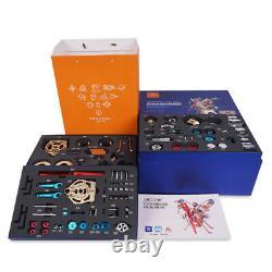 Creative Toy DIY Full Metal Assembly Engine Motor Kit V2 2-Cylinder Model Gift