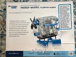 DISCOVERY KIDS DIY Toy Model Engine Kit 4-Cylinder Combustion Motor Engine