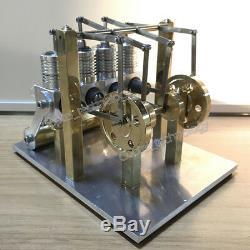 DIY Hot Air Stirling Engine Model Toy 4 Cylinder Mini Engine Generator Motor Toy