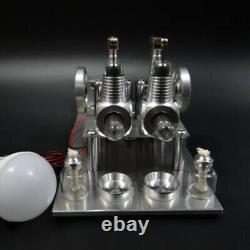 DIY Hot Air Stirling Engine Model Toy Mini 2 Cylinde Engine Generator Motor Toy