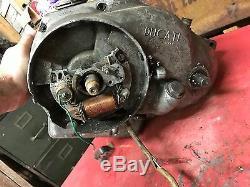 Ducati Bronco 125 Engine Bottom End Cases Transmission Model 98 Motor Crank