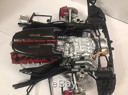 Engine + rear suspension model 1/8 scale laferrari, metal, plastic motor 18