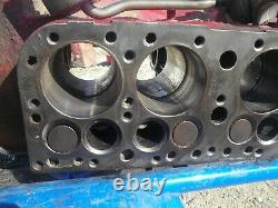 Ford 8N gas tractor LATE MODEL 4 cylinder engine motor block with camshaft & pump