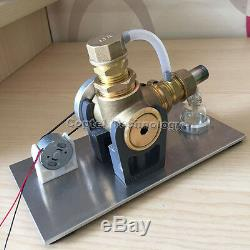 Hot Air Stirling Engine DIY Micro Motor Electricity Power Generator Model Toy