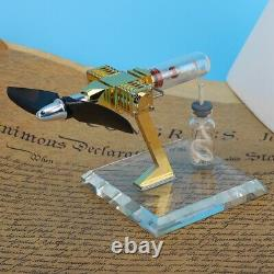 Hot Air Stirling Engine Model Mini Aircraft Propeller Motor Engine Education Toy