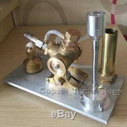 Hot Air Stirling Engine Model Toy Water Cooling V-Engine Generator Motor Toy