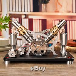 Hot Air Stirling Engine Motor Electricity Education Toy Model M16-V4-D C