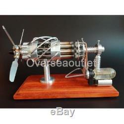 Hot Air Stirling Engine Motor Model Creative Motor Propeller Toy Novely Engine