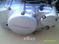 Hyosung aquila 125 gv engine motor tested working carb model, very clean