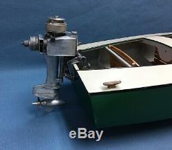 K&B Allyn Sea Fury Outboard. 049 Vintage Model Boat Engine Motor Gas Powered Toy