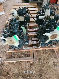 Lot of 4 Kubota Diesel Engine 2 cylinder Marine Motors Model Z482-E
