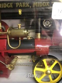 MINT LIVE STEAM WILESCO D 409 SHOWMANS ENGINE WITH ORIGINAL BOX Vintage Model