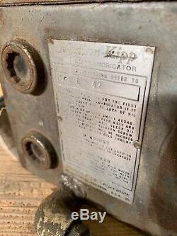 Madison-Kipp Model SVH L 42 Sight Feed 6Port Force Lubricator Steam Engine Motor
