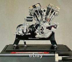 Marushin Harley Davidson 1948 Panhead Operational Engine Model with Motor Unit