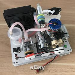 Mini 2-Stroke Methanol Engine Model Toy DIY Water Cooling Engine Generator Motor