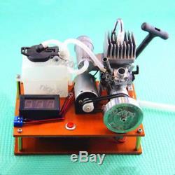 Mini Mixture Gasoline Engine Model Toy DIY Micro Power Generator Motor 2-Stroke