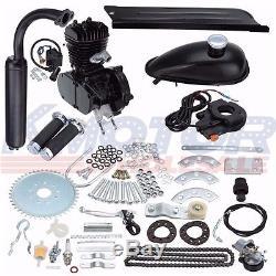New 50cc 2 Stroke Cycle Motor Kit Motorized Bike Petrol Gas Bicycle Engine Black