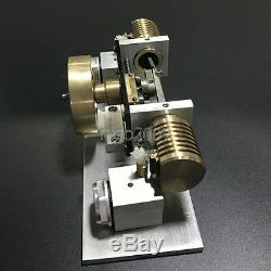 New Hot Air Stirling Engine Model Toy Flame Eater Air-cooled Motor V2 Engine Toy