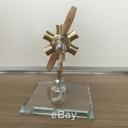 New Hot Air Stirling Engine Model Toy Mini Aircraft Propeller Motor Engine Toy