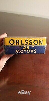 Nib Ohlsson 23 Motor Vintage Ignition Model Airplane Engine O&r. 23 Complete