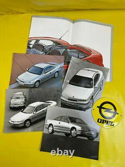 ORIGINAL OPEL Broschüre + Werksfotos, Calibra, Modellposter + Werksfotos
