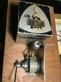 OS Wankel 4.9cc RC model rotary engine vintage Muffler motor & box