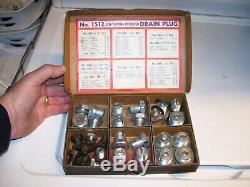 Original nos 1937-63 automobile drain plugs self tap Crankcase transmission oil