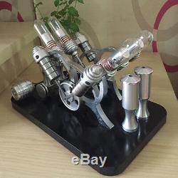 Powerful Hot Air Stirling Engine Model Toy 4-Cylinder Engine Motor V-4 Engine #4