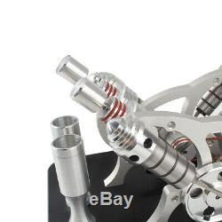 Powerful V4 Engine Motor Toy Hot Air Stirling Engine Model Kit Educational Toy h