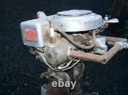 RARE 1920's JOHNSON WATERBUG MODEL A25 TWIN CYLINDER 2 HP OUTBOARD ENGINE MOTOR