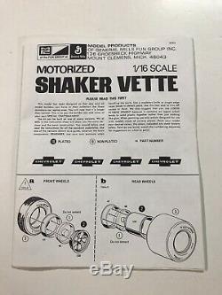 RARE! MPC 1/16 scale Shaker Vette Model Motorized Engine Action 1-3052 Corvette