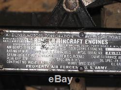 Ranger Aircraft Engine Model V32 Motor APU For B-29 Superfortress