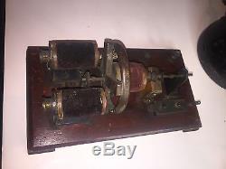 Rare 1886 Model Electric Motor Velvet Coils Stationary Live Steam Engine Scien