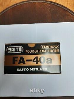 SAITO FA 40a 4-takt Motor, Moteur, Engine R/C Model Flugzeuge mit OVP