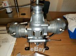 Saito FA-60T Twin Four Stroke 2 cylinder R/C Glow Engine Model Airplane Motor