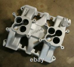 Say WHY AND intake 1949-62 CADILLAC Hot Rod WEIAND manifold 2X4 Dual Quad